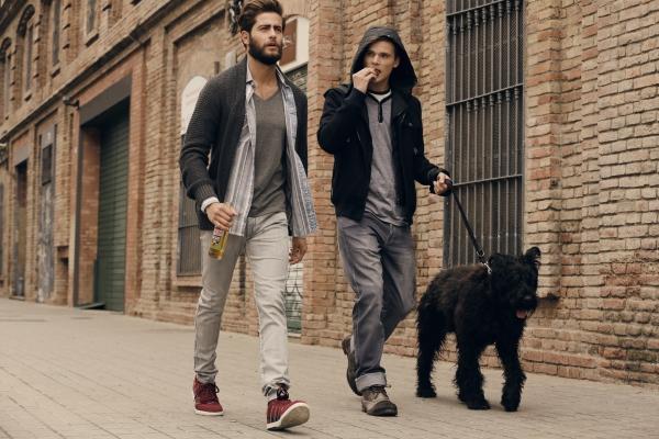Look relajado… para salir a pasear al perro